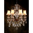 Marie Crystal 6 Light Chandelier