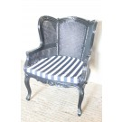 French Bergere Armchair with Rattan Back